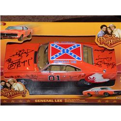 DUKES OF HAZZARD - SIGNED DIE CAST INCLUDING GEORGE BARRIS
