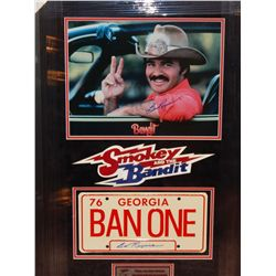 SMOKEY AND THE BANDIT PROP LICENSE & IMAGE - SIGNED BY BURT REYNOLDS