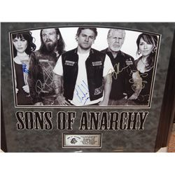 NO RESERVE! SONS OF ANARCHY POSTER - CAST SIGNED