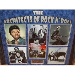 NO RESERVE! ARCHITECTS OF ROCK & ROLL - SIGNED BY FATS DOMINO, CHUCK BERRY, LITTLE RICHARD & JERRY L