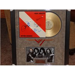 NO RESERVE! VAN HALEN - SIGNED LP