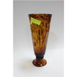 AMBER ART GLASS VASE