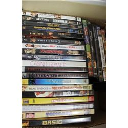 BOX W/ 25 DVD MOVIES ON CHOICE TO LOT 85