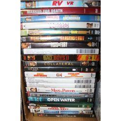 BOX W/ 25 DVD MOVIES ON CHOICE