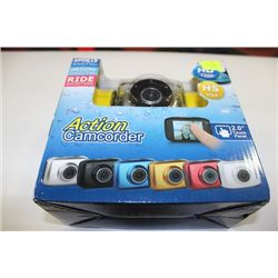 "NEW HD ACTION CAMCORDER WITH 2"" TOUCH SCREEN"