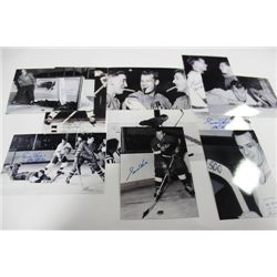 PACK OF 10 BLACK AND WHITE GORDIE HOWE PHOTOS