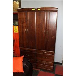 WOOD 6FT NARROW CABINET