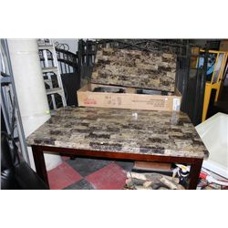 FAUX MARBLE KITCHEN TABLE SOLD W/COFFEE TABLE SET