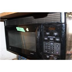 BLACK GE OVER THE RANGE MICROWAVE