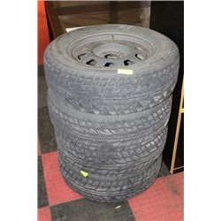 SET OF 4 - P235/65R17 SNOW TIRES WITH 5 BOLT RIMS