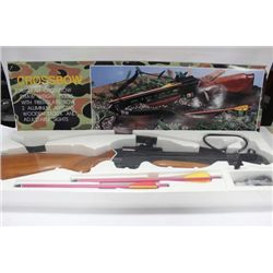 CROSS BOW KIT, NEW IN BOX. 150 LB DRAW, SOLID WOOD