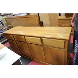 OAK 4 DRAWER , 4 DOOR SIDE BOARD