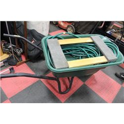 WHEELBARROW W/ HOSE AND FURNITURE DOLLY