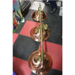 COPPER & BRASS POOL TABLE LIGHTS