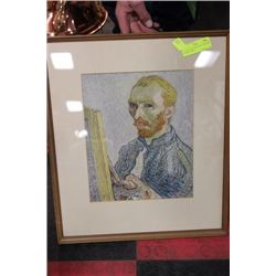 VINCENT VAN GOGH SELF PORTRAIT FRAMED PRINT