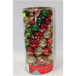 100PC. SHATTER-RESISTANT ORNAMENTS