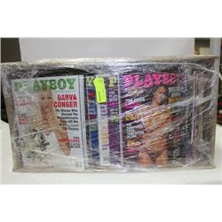 BOX OF MENS MAGAZINES, PLAYBOY COLLECTION