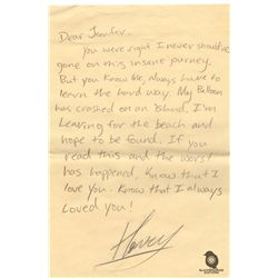 Henry Gale's Letter To Jennifer from Original Script of LOST