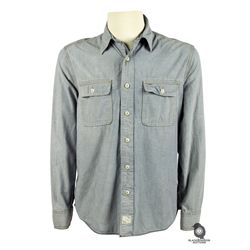 Sawyer's Light Blue Long-Sleeved Button Down Shirt from LOST