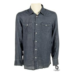 Sawyer's Dark Blue Long-Sleeved Snap Button Shirt from LOST