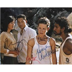 Color Glossy Photo from LOST Signed by Evangeline Lilly, Naveen Andrews, Daniel Dae Kim & Yunjin Kim