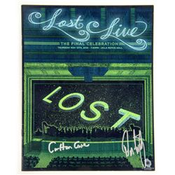 Original LOST Live Program Signed by Carlton Cuse & Damon Lindelof