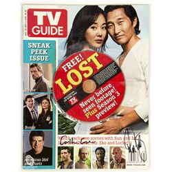 TV Guide Magazine 2005 LOST Issue with Mini CD Signed by Carlton Cuse & Damon Lindelof