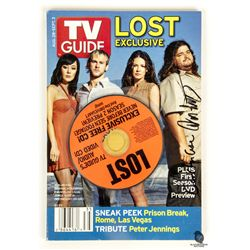 TV Guide Magazine 2006 LOST Issue with CD Signed by Carlton Cuse & Damon Lindelof