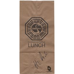 LOST Dharma Initiative Lunch Bag Signed by Henry Ian Cusick