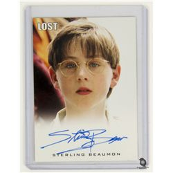 LOST Limited Edition Autograph Card for Young Ben Linus