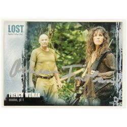 LOST Trading Card French Woman Rousseau Signed by Mira Furlan