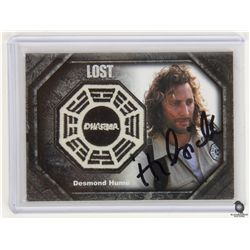 LOST Dharma Patch Costume Trading Card for Desmond Signed by Henry Ian Cusick