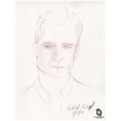 Richard Alpert from LOST Nestor Carbonell Self-Portrait Sketch