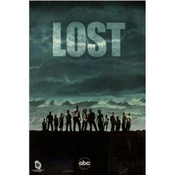 LOST Season 1 Poster Signed by Carlton Cuse & Damon Lindelof