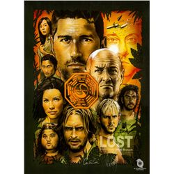 LOST Limited Edition Artist Print Montage Poster Signed by Carlton Cuse & Damon Lindelof