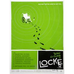 "LOST ARG Limited Edition ""Locke's Secret"" Screen Print by Olly Moss Signed by Carlton Cuse"