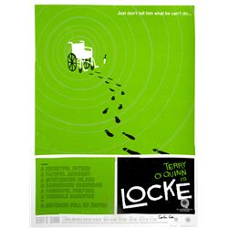 "LOST ARG Limited Edition ""Locke's Secret"" Screen Print by Olly Moss Signed by Carlton Cuse"