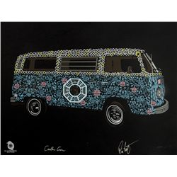 "LOST ARG Limited Edition ""The Dharma Van"" Screen Print Signed by Carlton Cuse & Damon Lindelof"