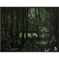 "LOST ARG Limited Edition ""Jacob's Cabin"" Screen Print Signed by Carlton Cuse & Damon Lindelof"