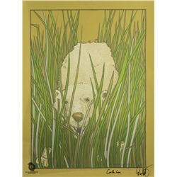 "LOST ARG Limited Edition ""The Polar Bear"" Screen Print Signed by Carlton Cuse & Damon Lindelof"