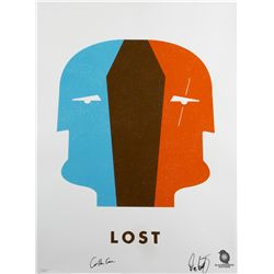 "LOST ""Dual Locke"" Screen Print by Ty Mattson Signed by Carlton Cuse & Damon Lindelof"