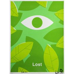"LOST ""The Eye"" Screen Print by Ty Mattson Signed by Carlton Cuse & Damon Lindelof"
