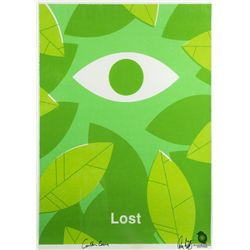 "LOST ""The Eye"" Screen Print by Ty Mattson Signed by Carlton Cuse & Damon Lindelof"