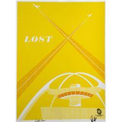 "LOST ""LA X"" Screen Print by Ty Mattson Signed by Carlton Cuse & Damon Lindelof"