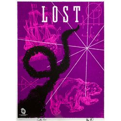 "LOST ""Smoke Monster"" Screen Print by Ty Mattson Signed by Carlton Cuse & Damon Lindelof"