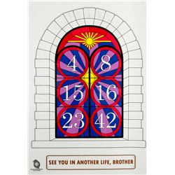 "LOST ""Stained Glass Numbers"" Limited Edition Digital Print by Ian Knight"