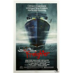"""The Freighter"" LOST in Horror Poster by JJ Harrison Signed by Rebecca Mader"