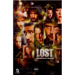 "LOST ""Find Yourself LOST"" Season 3 Poster Signed by Carlton Cuse & Damon Lindelof"