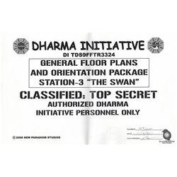 Set of LOST Dharma Initiative Floor Plans & Orientation Package Fan Art