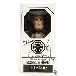 LOST Dr. Leslie Arzt Dharma Initiative Bobblehead Signed by Daniel Roebuck